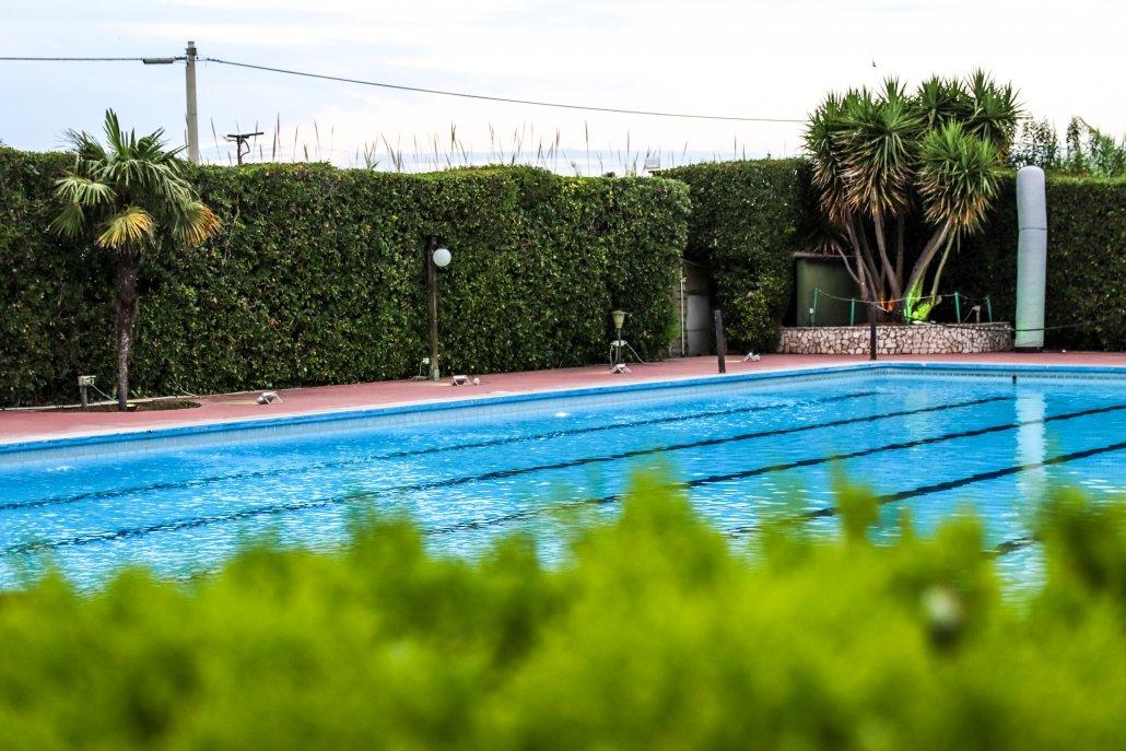 J.T. Cafe' vista piscina